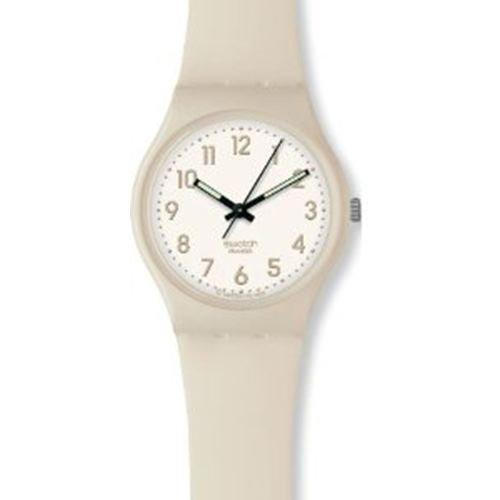 Swatch Women's GM170 Ecrubelle White Dial Watch
