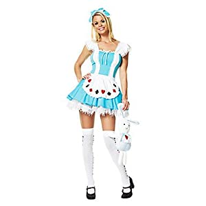 JJE Alice in Wonderland Lake Blue Polyester Women's Fancy Dress Halloween Costume , XL