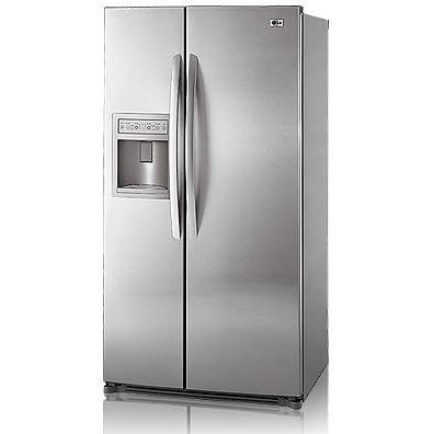 LG : LSC27910ST 26.5 cu. ft. Side by Side Refrigerator - Stainless Steel