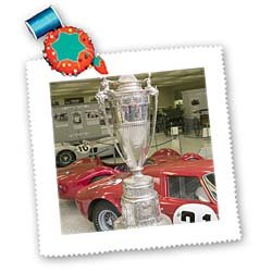 3dRose qs_90313_3 Indianapolis Speedway Hall of Fame Schebler Trophy Walter Bibikow Quilt Square, 8 by 8-Inch