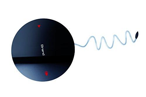 Duschradio schwarz mit Touch Bedienung aus ABS und Acryl schönes Design spritzwassergeschützt