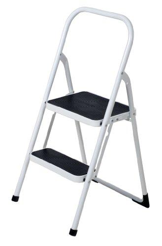 Vestil FSL-2 Fold Up 2 Steps Ladder, Steel, 250 lbs Capacity, 18