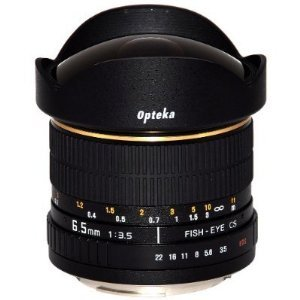 Opteka 6.5mm f/3.5 Manual Focus Aspherical Fisheye Lens for Olympus EVOLT & Panasonic Four-Thirds Mount Digital SLR Cameras