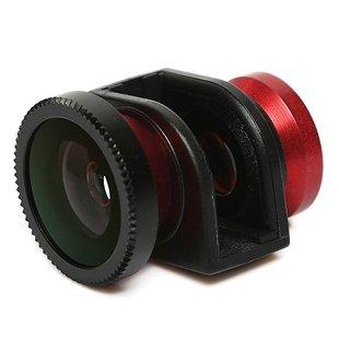 iPhone5 専用 広角 ・ マクロ ・ 魚眼 3in1 レンズ 並行輸入品 【レッド】