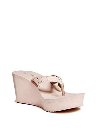 GUESS Womens Selbee Wedge Flip-Flops