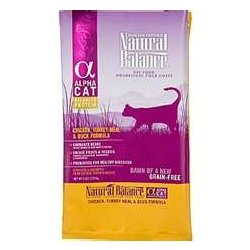 See Natural Balance Alpha Cat Chicken, Turkey and Duck Dry Formula (10lb)