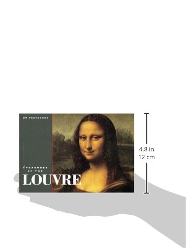 TREASURES OF THE LOUVRE POSTCARD BOOK (Gift Line)
