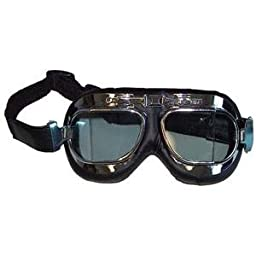 Emgo Red Baron Goggles - One size fits most/Stainless Steel