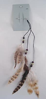 New Brown Feather Hippie Hair Extension Headband