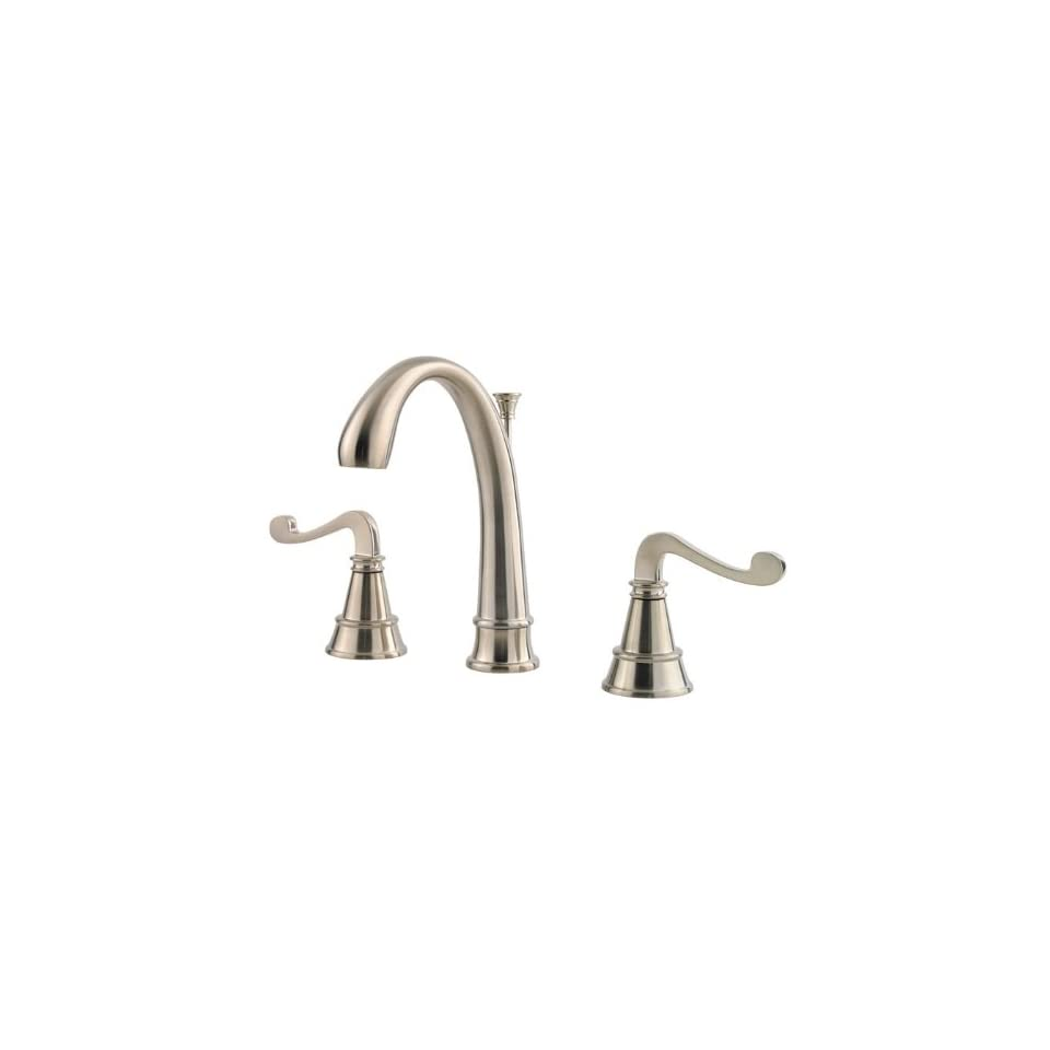 Price Pfister F049 FLKK Brushed Nickel Falsetto Double Handle Widespread Lavatroy Faucet with Metal