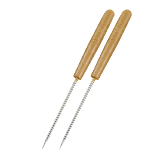 Amico 3 Pcs Light Brown Plastic Handle Sewing Needle Awls