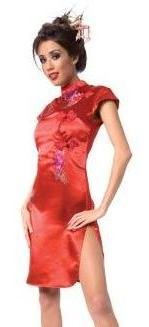 Living Fiction China Doll Womens Party Dress Red Medium (10-12)