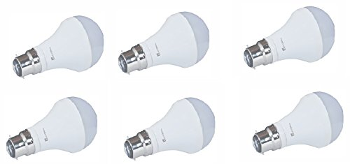 7W LED Bulb (White, Set Of 6)