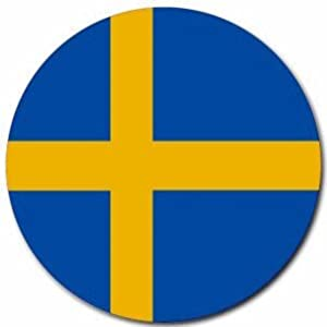 Sweden flag round mouse pad office products for Amazon sweden office