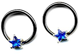 Body Accentz™ Nipple Ring Star Captive Bead