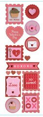 Martha Stewart Sticker Valentine Heart And Stamp