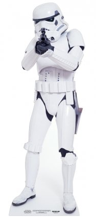 "Star Cutouts Ltd - Cartonato di ""Stormtrooper - Star Wars"" a grandezza naturale, 183 cm"