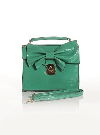 Women's Tie Me a Green Bow-Bag