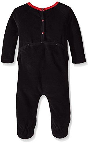 Burt's Bees Baby Unisex-Baby Organic Raglan Sleeve Velour Union Suit Coverall, Onyx, 0-3 Months