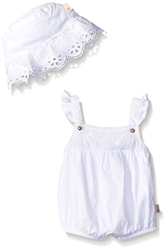 Burt's Bees Baby Baby Organic Crochet Bubble and Hat Set, Cloud, 18 Months