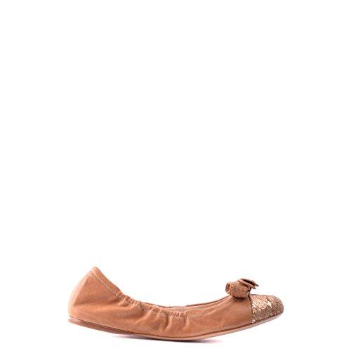 Prada ballerine donna in pelle originale marrone EU 35 3F5652 3O16 F0V8N