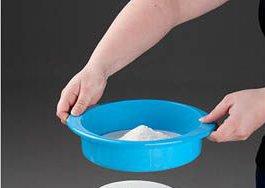 Setaccio per cucina in plastica, diametro 20 cm. Disponibile nei colori verde limone, rosso, azzurro