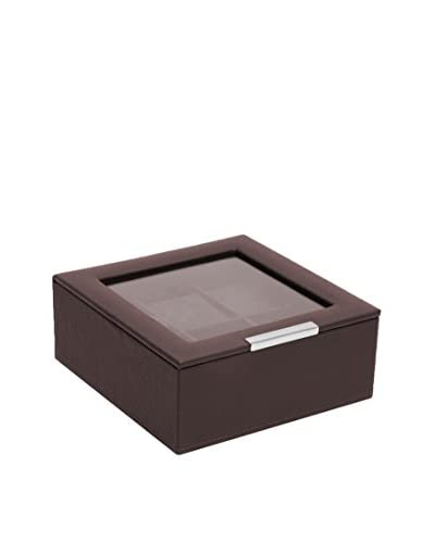 WOLF 6-Watch Lidded Box, Brown