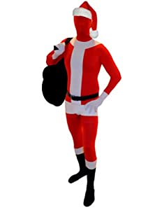 SecondSkin Full Body Spandex/Lycra Suit (XXS, Santa Claus)