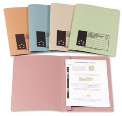 5 Star Flat File Recycled Manilla 315gsm 38mm Foolscap Buff [Pack 50]