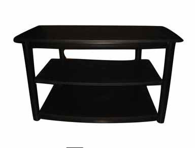 "Cheap LINON HOME DECOR 81090BLMTL-01-K ""LIVING ACCENTS"" 3 SHELF TV STAND (81090BLMTL-01-K)"