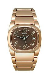 Tissot T-Moments Pink PVD Bracelet Brown Dial Women's Watch #T009.310.33.297.00