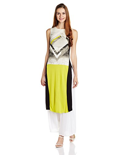 W for Woman Women's Straight Kurta at amazon
