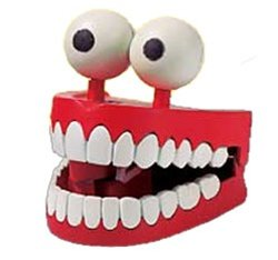 Jabber Jaws Toy Novelty Wind-up Chattering Teeth - 1