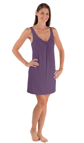 Womens Pajamas Sleepwear Chemise Sleeveless Nightshirt Clothing For Her Wb0401-Amt-L front-316781