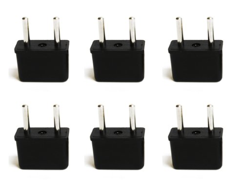Ceptics USA to Europe Asia Plug Adapter - CE Certified - RoHS Compliant - 6 Pack (Plug Converters compare prices)