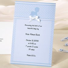 Wilton Crawling Baby Boy Birth Announcement Cards