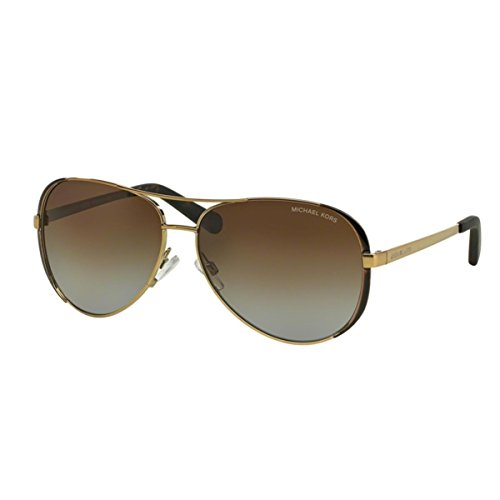 Image of Michael Kors 5004 1014T5 Gold Chelsea Aviator Sunglasses Polarised Lens Categor