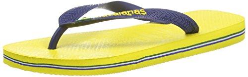 Havaianas Brasil Logo, Infradito Unisex-adulto, Colore Giallo (Citrus Yellow), Taglia EU 39/40 (BR 37/38)