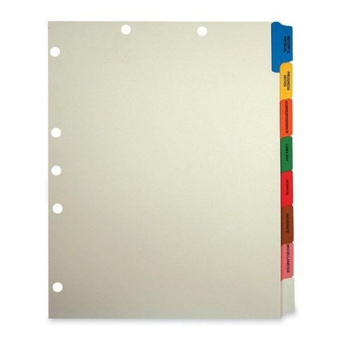 Medical Chart Dividers Tabbies 54505 Medical Chart