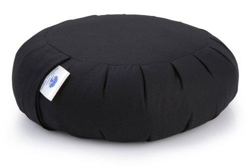 Meditation Cushion, Support Cushion - Zafu (Buckwheat) Zen Black