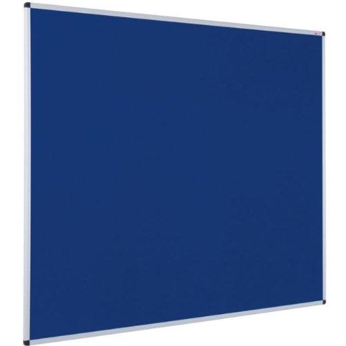 Viz-pro Notice Board Felt Blue, 36 X 24 Inches, Silver Aluminium Frame