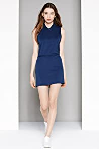 Fashion Show Sleeveless Crepe Polo Dress