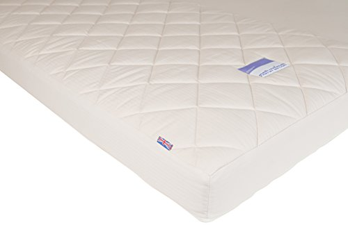 "Naturalmat Organic Spring Crib Mattress, Cream, 52"" x 28"" - 1"