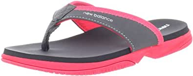 New Balance Kids JoJo Thong Sandal (Little Kid/Big Kid),Pink,5 M US Big Kid