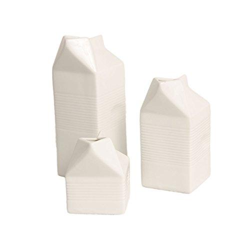 Milchtüte aus Porzellan Höhe 14,5cm