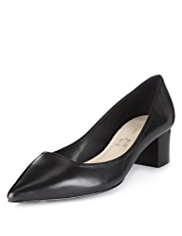 Autograph Leather Pointed Toe Wide Fit Shoes with Insolia®