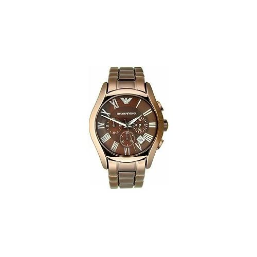 Armani Valente Chronograph Brown Dial Mens Watch AR1610: Armani