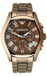 Emporio Armani Valente Chronograph Brown Dial Mens Watch AR1610