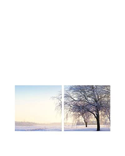 Baxton Studio Snowy Solitude Mounted Diptych Print, Multi