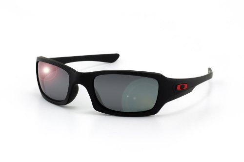 OAKLEY Polarized Fives Squared Sunglasses, Ducati Special Edition. Matte Black Frame with Polarized Black Iridium Lenses. 24-191